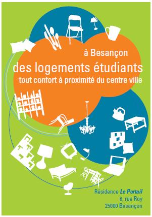Plaquette résidence étudiante Le Portail - Des logements étudiants à proximité du centre-ville de Besançon