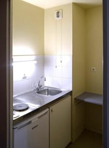 Cuisine d'un logement double - résidence étudiante Le Portail à Besançon